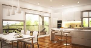 optymalne połączenie kuchni i salonu
